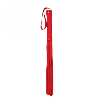 Shots Ouch Whips and Paddles Flogger Rojo