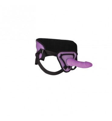 Shots Ouch Arnes con Dildo de Silicona 25 cm Color Purpura