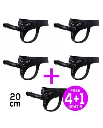 Pack 41 Mistress Arnes Elastico Dildo Silicona 20 cm Negro