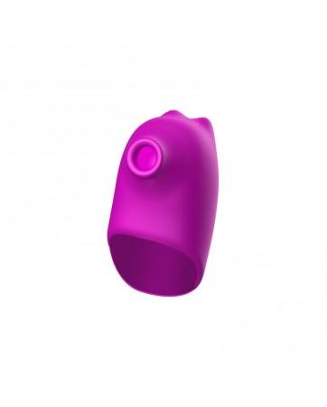 No Thirteen Vibrador 2 en 1 con Funcion de Pulsacion y Kit de Succion de Aire USB Magnetico Silicona