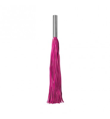 Shots Ouch Whips and Paddles Flogger con Mango de Metal Rosa