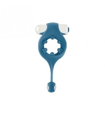 Shots Mjuze Anillo Vibrador para el Pene Azul
