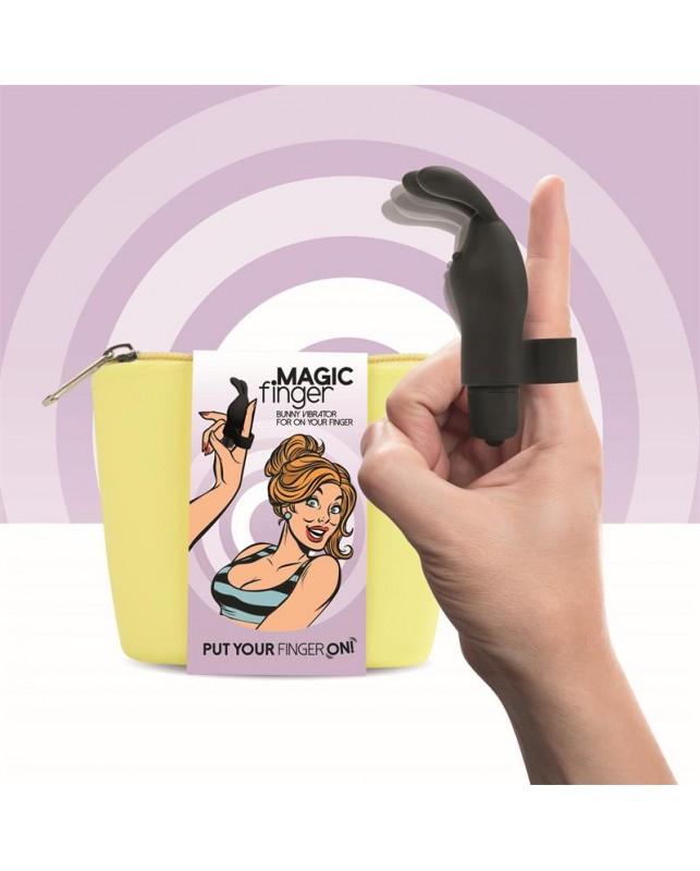 Magic Finger VIbrador para el Dedo Negro