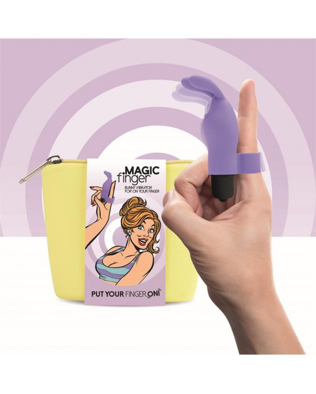 Magic Finger Vibrador para el Dedo Purpura
