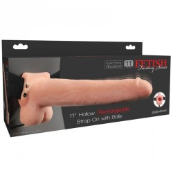 Fetish Fantasy 11 Hollow Rechargeable Strap On wi