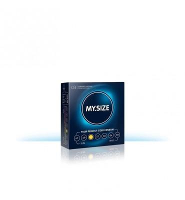 My Size Preservativos Naturales de Latex Talla 53 Caja de 3 Unidades