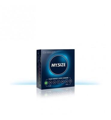 My Size Preservativos Naturales de Latex Talla 47 Caja de 3 Unidades