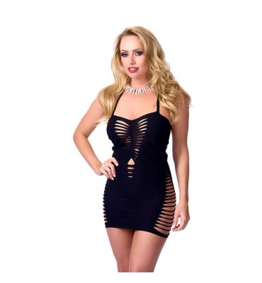 Rimba Amorable Mini Vestido Color Negro Talla unica