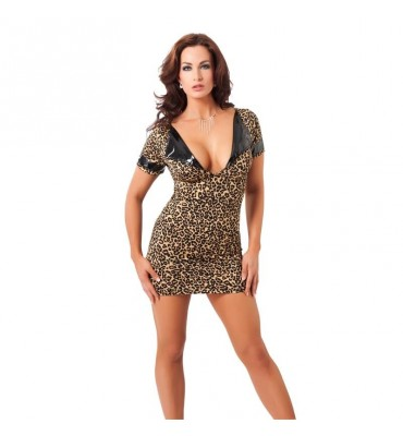 Rimba Amorable Mini Vestido Estampado de Leopardo Talla unica