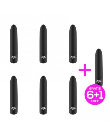 Pack 6 1 Shoty Bala Vibradora USB 10 Velocidades Potente Motor Negro