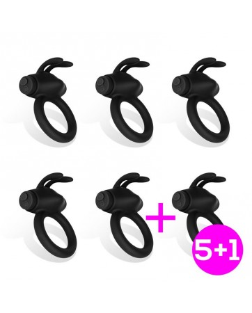 Pack 5 1 Nepture Anillo Vibrador Silicona Recargable USB