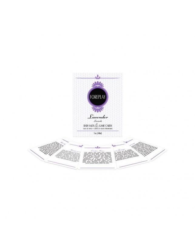 Sales de Bano y Cartas Impermeables Foreplay Bath Set EN ES