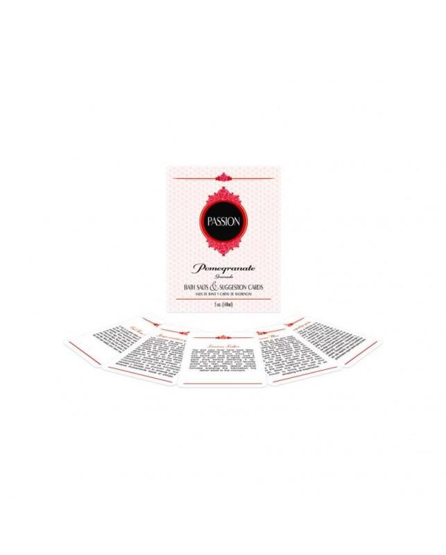Sales de Bano y Cartas Impermeables Passion Bath Set EN ES