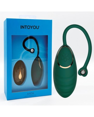 Anda Huevo Vibrador con Control Remoto 2 Motores Verde Botella