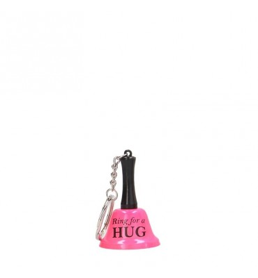 Shots Fun Llavero Campana del Amor Ring For A Hug Color Rosa