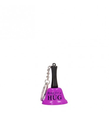 Shots Fun Llavero Campana del Amor Ring For A Hug Color Purpura
