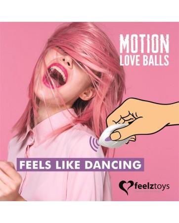 Huevo Vibrador Motion Love Balls con Control Remoto Foxy Purpura