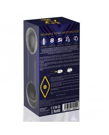 Clipex Masturbador Masculino Ajustable con Sistema de Clip Silicona Premium USB Magnetico