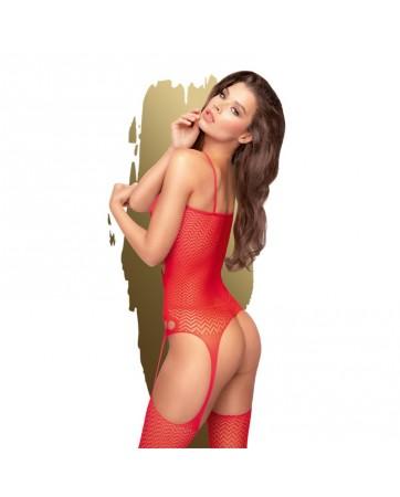 Bodystocking Hot Nightfall Rojo