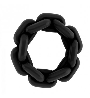 Shots Sono Anillo en Forma de Cadena No6 Color Negro