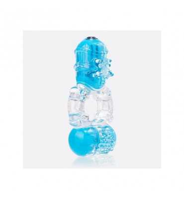 Anillo Vibrador Doble ColorPop Big O 2 Azul