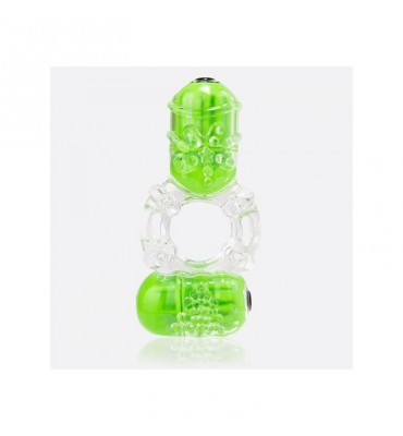 Anillo Vibrador Doble ColorPop Big O 2 Verde