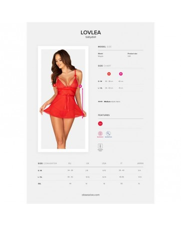 Lovlea Badydoll Rojo