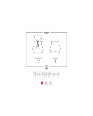 Babydoll Semi Transparente 811 BAB 4 S M