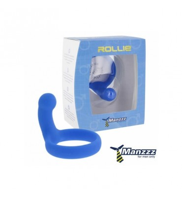 Manzzztoys Rollie Penis Ring Blue