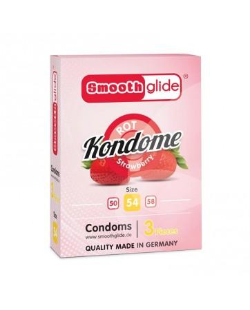 Preservativos Fresa Talla 54 Pack de 3
