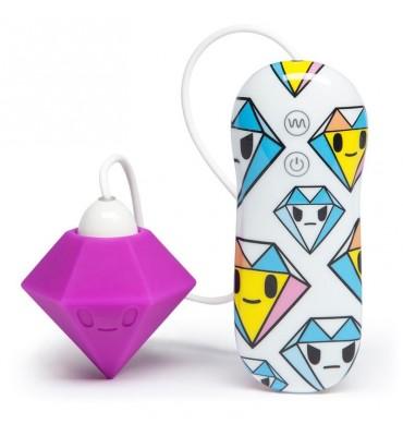 tokidoki 10 Function Silicone Estimulador Vibrador Clitoris Diamante Lila