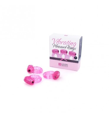 Loverspremium Anillos Vibradores Color Rosa 3 pcs