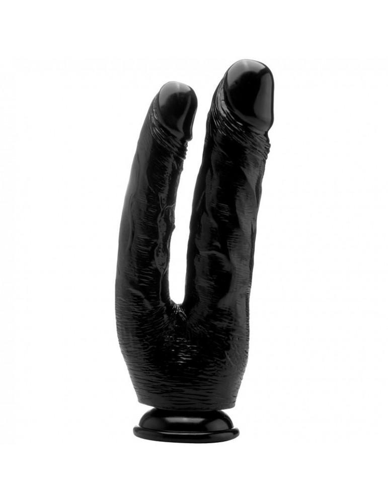Pene Realistico Doble Penetracion 254 cm Color Negro