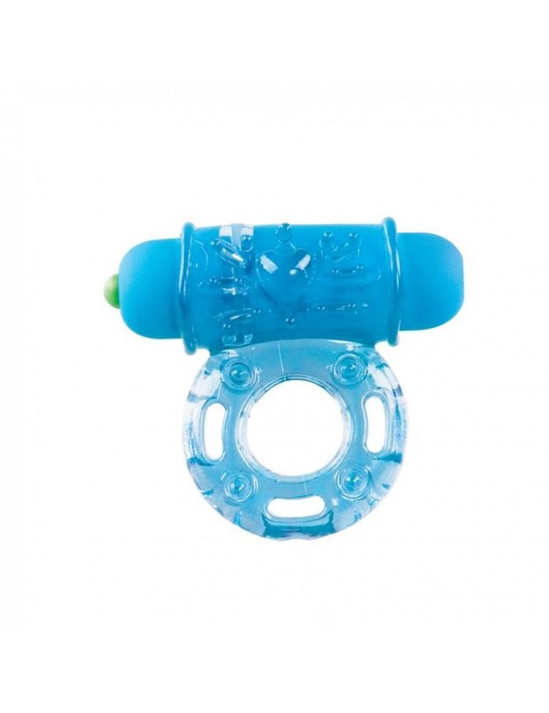 Shots Toys Anillo Vibrador con Bala Azul