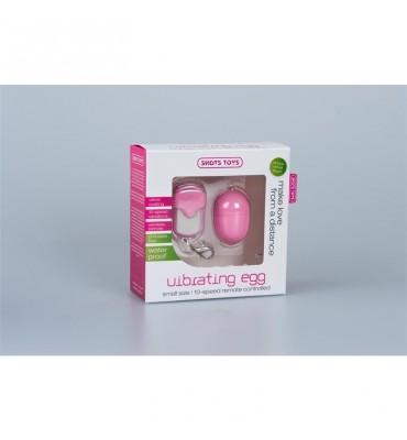 Shots Toys Huevo Vibrador 10 Velocidades Control Remoto Pequeno Rosa