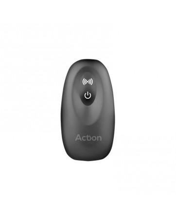 Asher Plug Anal con Control Remoto USB Magnetico Negro