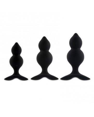 Bibi Twin Set 3 Plug Anales Negro