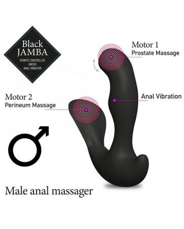 Jamba Vibrador Anal y Estimulador Punto G Negro