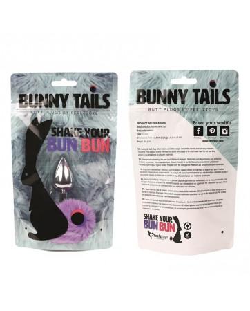 Bunny Tail Plug Anal con Cola Purpura