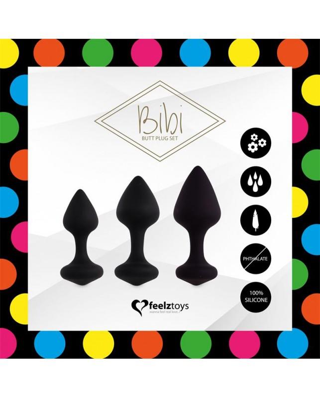 Bibi Set 3 Plugs Anales Negro