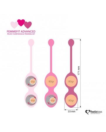 Femmefit Set 3 Bolas Ejercicios Avanzados de Suelo Pelvico