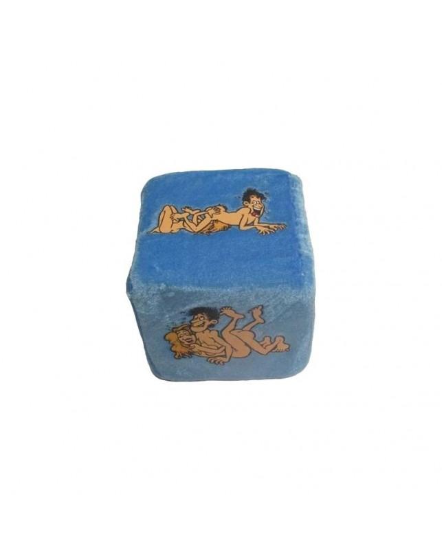 Dado de Tela del Posturas del Kamasutra Azul 10 cm