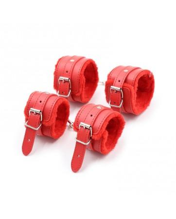 Set de Bondage 10 Piezas Rojo