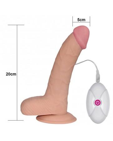 Dildo The Ultra Soft Dude con Vibracion 88 Natural