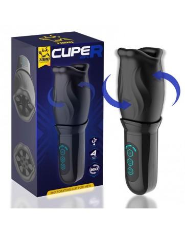 Cuper Masturbador con Rotacion 360º Silicona USB