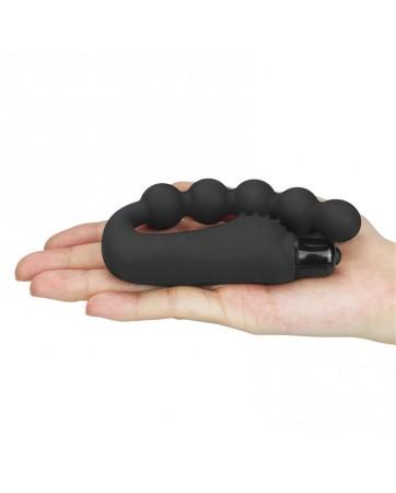 Cadena Anal Power Beads con Vibracion Negro
