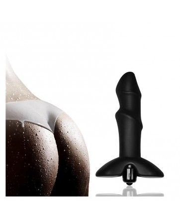 Plug Anal P Spot Spiral con Vibracion Negro