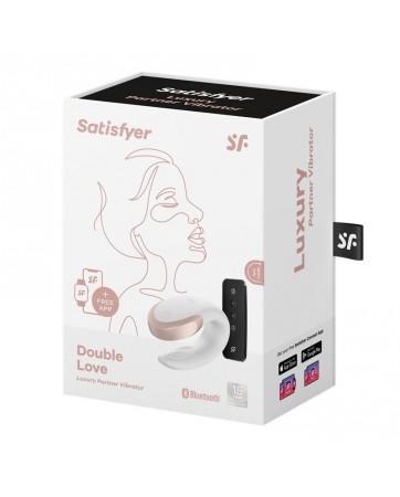 Double Love Luxury Vibrador para Parejas con APP Blanco