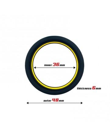 Anillo para el Pene 100 Silicona Solida 36 cm Amarillo y Negro