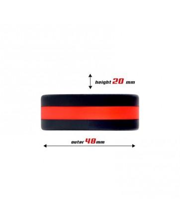 Anillo para el Pene 100 Silicona Solida 36 cm Rojo y Negro